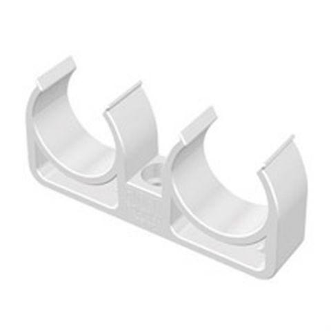 Двойной крепеж для полипропиленовых труб — 20 Ø,мм, Firat Plastik