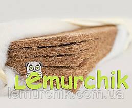 Матрас в детскую кроватку 5 слоев кокоса 120х60х7 см