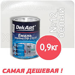 Декарт Dekart Краска-Эмаль ПФ-115 Белая №12 0,9кг
