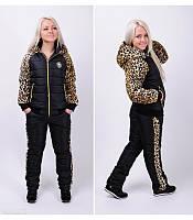 Зимний костюм прогулочный утепленный куртка и штаны на синтепоне большие размеры от 48 по 56 батал