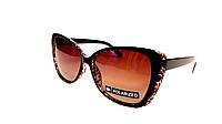 Солнцезащитные очки чёрные на тигровой коричневой основе. Поляризация!