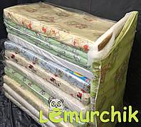 Матрас в детскую кроватку двухслойный (кокос+поролон) 120х60х6 см