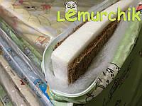 Матрас в детскую кроватку трехслойный (кокос+поролон+кокос) 120х60х7 см