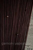 Кисея шторы нити со стеклярусом венге (204)