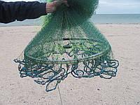 Кастинговая сеть из лески с большим кольцом диаметром 6 м (парашют, намет)