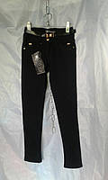 Школьные брюки детские на флисе для девочки 6-12 лет,темно синие