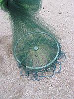 Кастинговая сеть из лески с большим кольцом диаметром 5 м (парашют, намет)