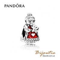 Pandora шарм МИССИС РОЖДЕСТВО #792005EN07 серебро 925 эмаль Пандора оригинал