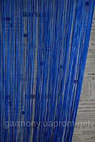 Кисея шторы нити со стеклярусом электрик (208)
