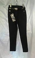 Школьные брюки детские на флисе для девочки 6-12 лет,темно синие, фото 1