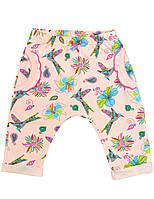 Штаны для девочки:цвет -Рисунок,размер-68 см,6 мес
