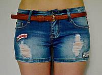 Шорты джинсовые рванные со средней посадкой