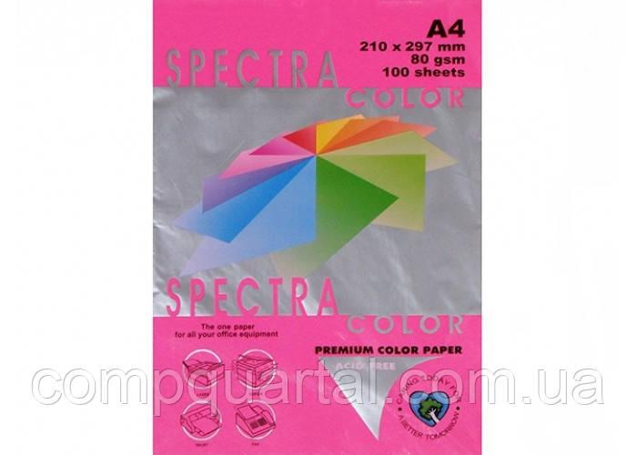 Папір кольоровий 80г/м, А4 500арк. SPECTRA COLOR (40350) IT 350 Red (Малиновий/Неоновий)