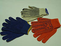 Перчатки вязанные с  ПВХ точкой.