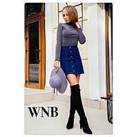Юбка женская короткая ткань джинс, цвет только такой, фото реальное СТ № 45123