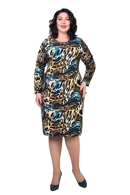 Тигровое женское платье Регина-ангора