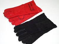 Перчатки спилковые с крагами (сварщика)
