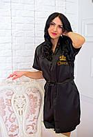 Элегантный шелковый халат