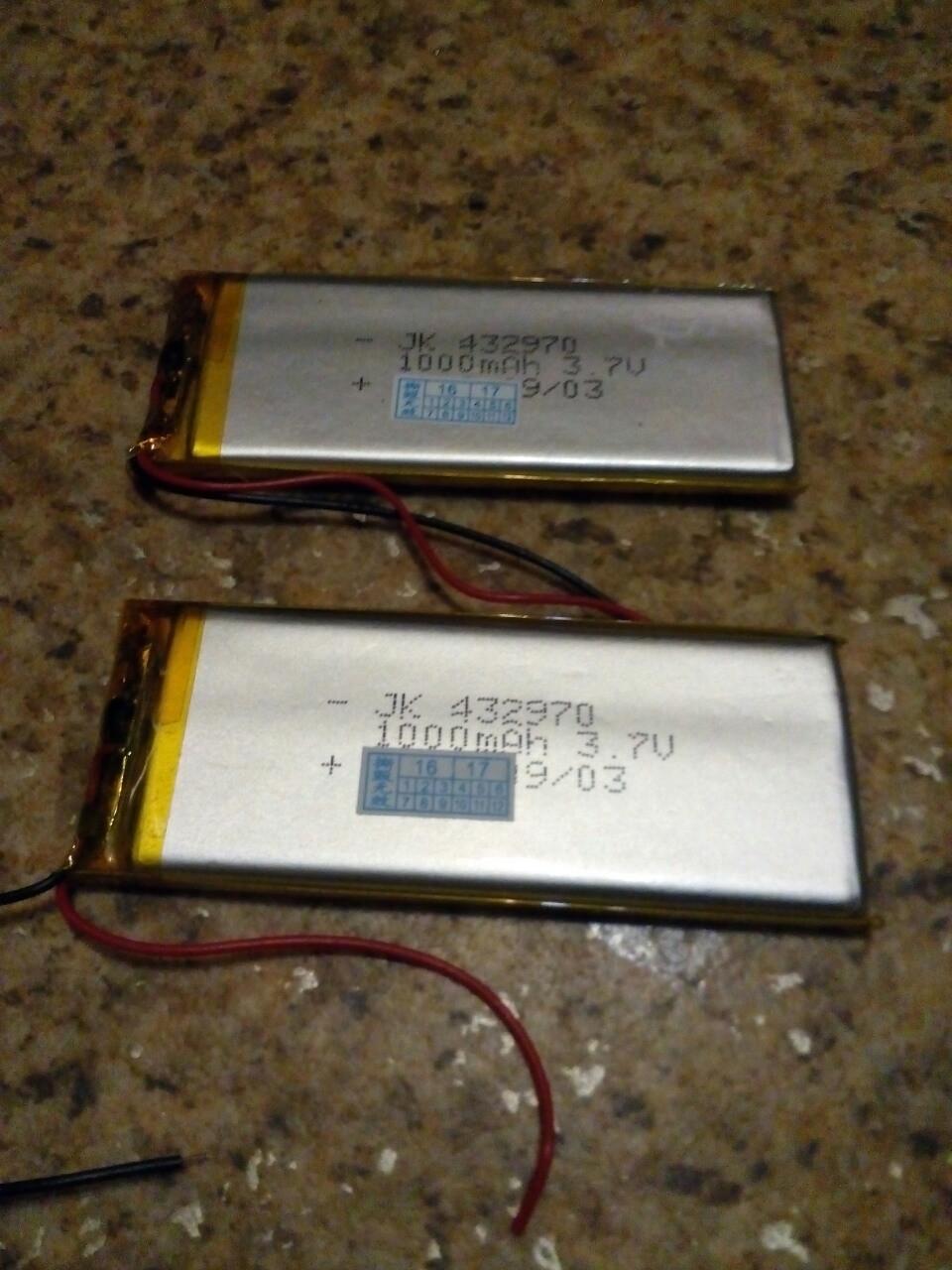 Аккумулятор 1000мАч для китайских телефонов, PSP, MP3 устройств (70 × 43 × 2,9 мм)