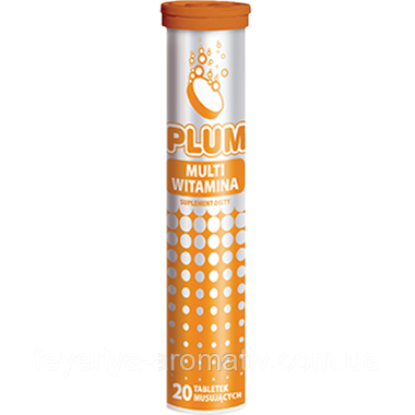Витамины Kruger 20шт. PLUM Multiwitamina