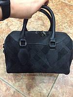 Женская сумка бочонок  Натуральный замш+натуральная кожа. АК 4109