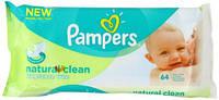 Детские влажные салфетки Pampers Natural Clean 64шт.