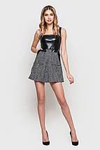 Серо-черное платье с квадратным вырезом (2159 sk), фото 2