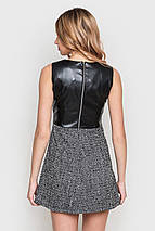 Серо-черное платье с квадратным вырезом (2159 sk), фото 3