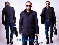 Мужская куртка Ромб латки замша на локтях норма-батал