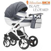 Универсальная коляска 2 в 1 Kinder Rich Blaze Leopard Carbon