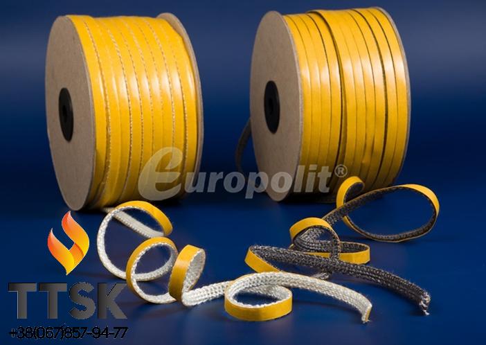 Стекловолоконный шнур на клейкой основе Europalit TSP / С 15х2 мм