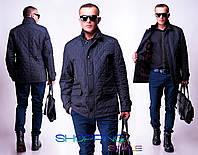 Мужская куртка Ромбклетка норма-батал