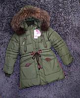 Парка - пальто зимнее на девочку Тайга, фото 1