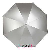 Зонт трость полуавтомат Серебро
