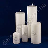 Свеча интерьерная стеариновая, белая, 15 см, 50 часов