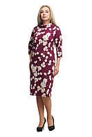 Женское повседневное платье большого размера 1705020/2 темная малина