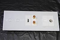 Сенсорный выключатель стекло,модульная система с розетками,ТВ,HDMI,USB,SAT,Интернет, комплект на всю квартиру!