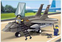 """Конструктор """"SLUBAN"""" """"Военный самолёт"""", фигурки 2шт, 142дет, в кор-ке, 28,5-24-5,5см (18шт)"""
