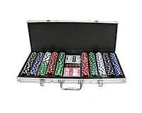 Покерный набор в алюминиевом кейсе на 500 фишек с номиналом, фото 1