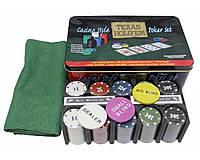 Покерный набор в металлической коробке Теха́сский хо́лдем №200Т-4
