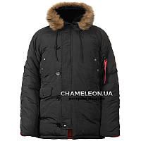 Куртка зимняя аляска n-3b Black Черная