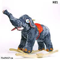 Качалка Слон,меховая,для детей 1+,в кор. 70*28*55см (6шт)
