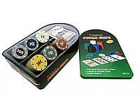 Покерный набор в металлической коробке №120Т-Х