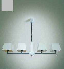 Люстра с белыми абажурами на 4 лампочки, модерн в спальню, детскую 14106-3