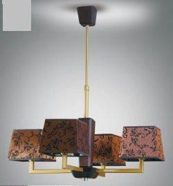 Люстра деревянная в цвете венге с абажурами, модерн, с кабинет, коридор 14107-3