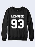 Оригинальный свитшот Монстр 93 с модным принтом в стиле SWAG из 100 % хлопка.