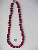 Ожерелье красивые рубины, 289.67с, 40 штук. Размер 10-17 мм х 10 мм - 55 см-ИНДИЯ-ЭКСКЛЮЗИВ