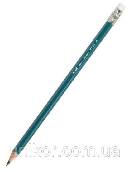 Карандаш графитный пластиковый 9004-А, HB, 12 шт./уп. с ластиком. AXENT