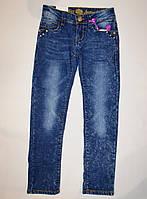 Детские джинсы на флисе тёртые 152, 158р