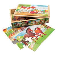 """4 Пазлы в коробке """"Животные"""", Bino"""